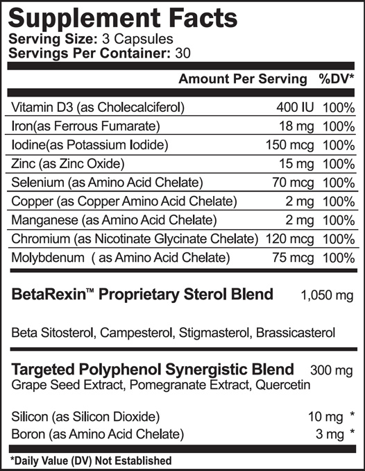 ProstaGenix Supplement Facts and Ingredients