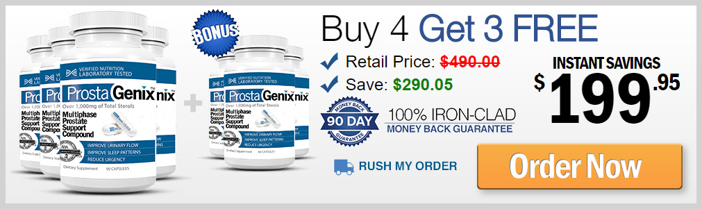 Buy 4 ProstaGenix Prostate Pills Get 3 FREE