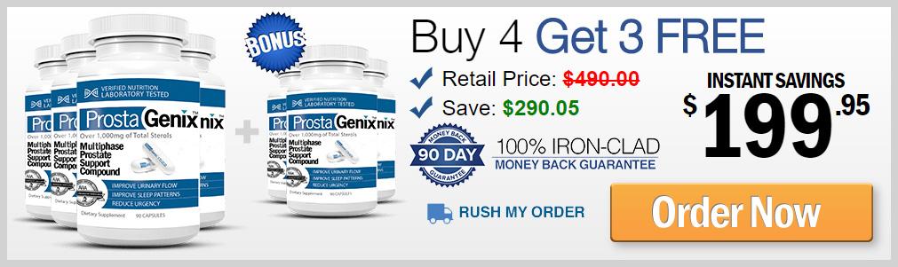 Buy 4 ProstaGenix Prostate Pills Get 3 FREE